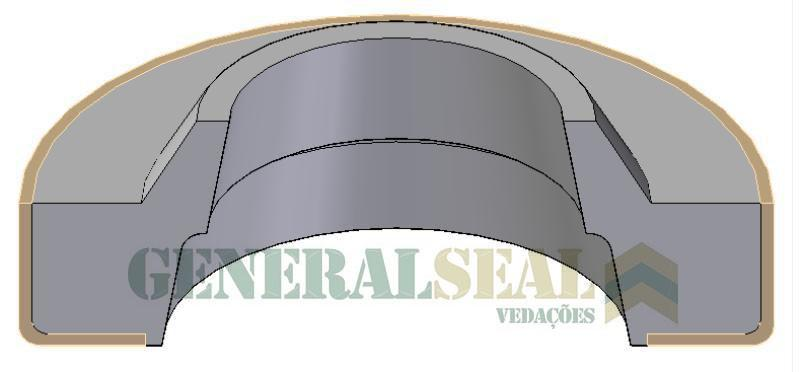 Anel raspador para cilindro pneumatico